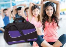 Pep sporttáska cipzáras zsebekkel, állítható és levehető vállpánttal 6 színkombinációban