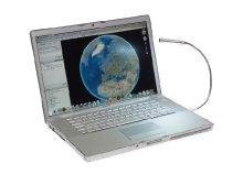 USB-s laptop világítás, lámpa 5 db fehér LED-del, USB kimenettel, rugalmas nyakkal, ajándékdobozban