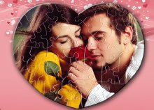 Ötletes és egyedi, 50 darabos szív alakú puzzle, saját fényképpel, A4-es méretben!