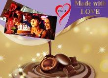 Luxus belga csokoládé saját fényképeddel