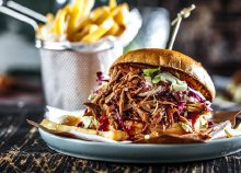 BBQ Pulled pork hamburger menü