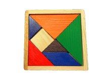 Fa tangram színes logikai kirakó