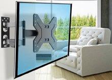 Falra rögzíthető, kihajtható TV tartó konzol
