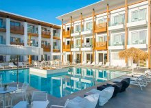 8 nap Krétán, repülőjeggyel, ultra all inclusive ellátással, a tengerparti Ammos Beach Resortban*****