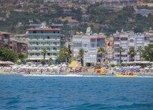 8 napos nyaralás 1 főre a török riviérán, Alanyában, repülőjeggyel, félpanzióval, a Cimen Hotelben***