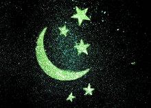 Csillagszoba varázslatos, sötétben világító, nappal láthatatlan szobadekoráció 6 vagy 10 nm2-es felületen