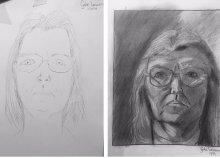 Portrérajzolás jobb agyféltekés technikával