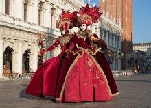 CSAK MA! 3 napos buszos utazás a velencei karnevál záró hétvégéjére, reggelivel, 3*-os szállással
