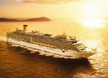 Földközi-tengeri hajókirándulás a Costa Deliziosa fedélzetén, a hajón teljes ellátással