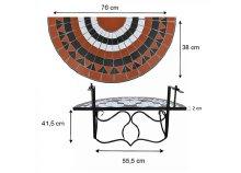 Lehajtható balkon asztal 2 színben