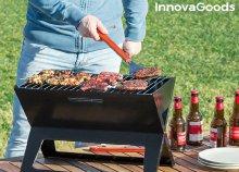 InnovaGoods Home Garden hordozható és összecsukható faszenes barbecue sütő