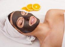 Arckezelés narancsos pakolással és csokoládés arc-, nyak- és dekoltázsmasszázzsal