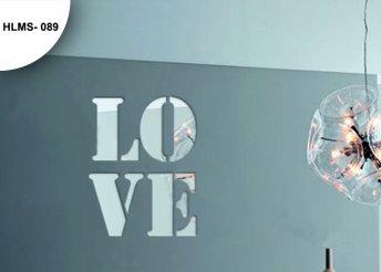 Modern, tükör hatású faldekoráció - Love