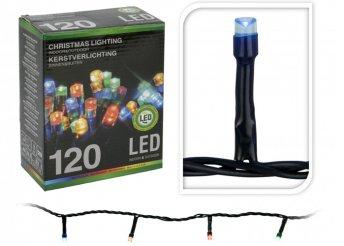Színes, 12 méteres 120 LED-es fényfüzér