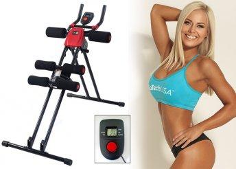 Kar- és hasizom erősítő edzőgép 4 különböző nehézségi fokozattal