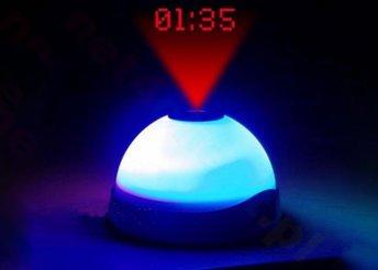 Ébresztő óra LED fénnyel és kivetítővel
