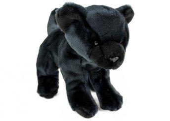 25 cm-es fekete, puha, plüss párduckölyök