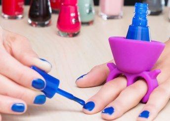 Home Nail Salon körömlakk tartó gyűrű