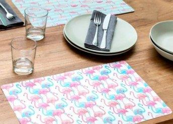 Wagon Trend Flamingók tányéralátét