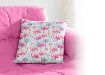 Wagon Trend flamingós díszpárna