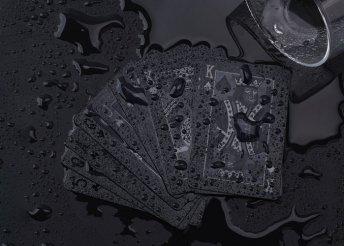 Fekete, 54 lapos francia kártya