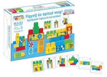 Figyelj és építsd meg! építőjáték fejlesztő kártyákkal