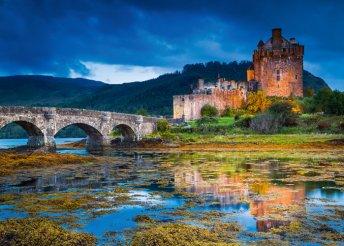 Körutazás Skóciában repülőjeggyel, szállással, félpanziós ellátással - 1 személy részére