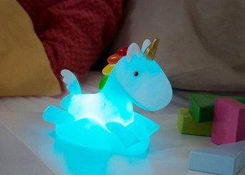 Unikornis többszínű LED éjjeli fény