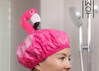 Wagon Trend flamingós zuhanysapka