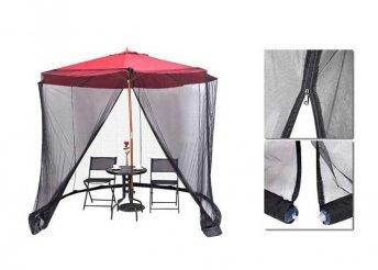 Szúnyogháló 2,7 m-es napernyőre fekete színben