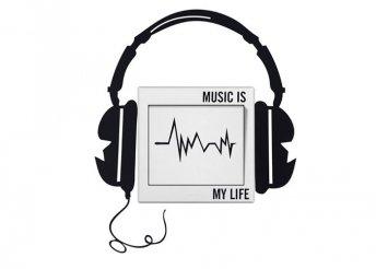 Music is my life kapcsoló matrica