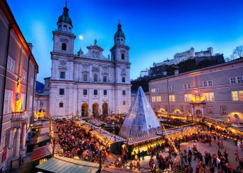 Melki apátság és adventi vásár Salzburgban
