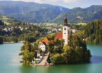 Téli varázslat a Bledi-tónál Szlovéniában