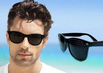 Látásjavító, szemtréner szemüveg, fekete kerettel, hogy tisztán láss