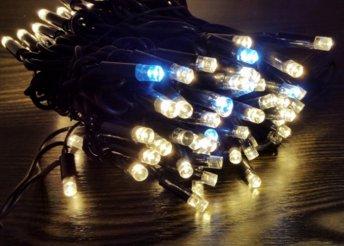 Külső fényfüzér 100 LED meleg fehér