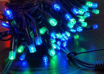 Külső fényfüzér 100 LED színes