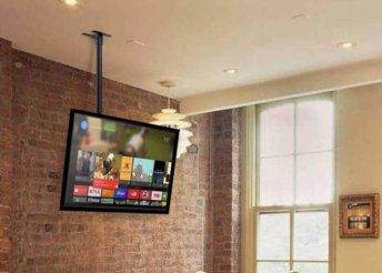 Plafonra rögzíthető TV tartó konzol