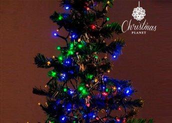 Színes karácsonyi fényfüzér több méretben