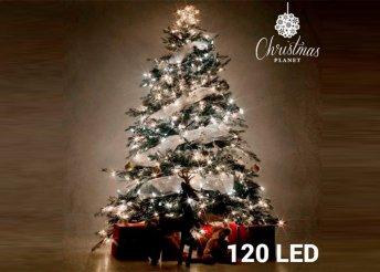 Fehér karácsonyi fényfüzér - 120 LED