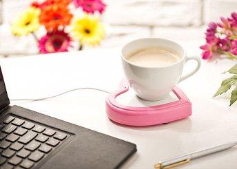 Szív alakú csésze melegítő USB-vel