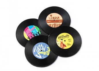 Retro lemez alátét szett (4 darab)