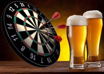 2 óra steel darts 2 Dreherrel vagy üdítővel