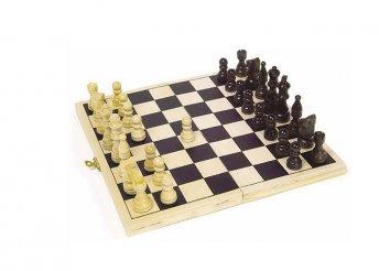 Fa sakk készlet, 21 x 21 cm
