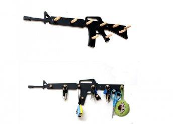M16-os gépkarabély fali fogas