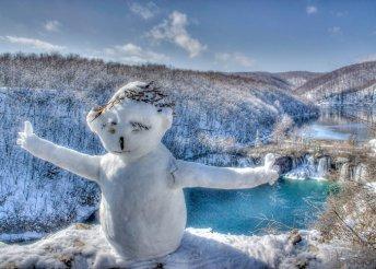 Jégvarázs a Plitvicei Nemzeti Parkban