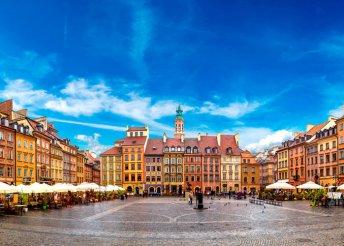 4 nap 1 főre Varsóban, Lengyelország fővárosában, reggelivel, repülőjeggyel, 3*-os hotelben