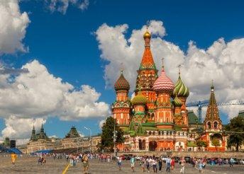 5 napos városnézés Moszkvában, reggelivel, repülőjeggyel, 3*-os szállással, idegenvezetéssel