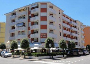 Szállás az olasz Adrián, Bibionéban, az Ausonia al Mare Apartmanban, önellátással