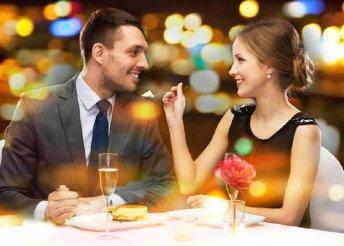 Kétszemélyes romantikus bőségtál ajándék desszerttel a Trio Lord Étteremben