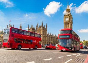 5 éjszaka Londonban, 1-1 éjszaka tranzitszállással, busszal, reggelivel, idegenvezetéssel, programokkal